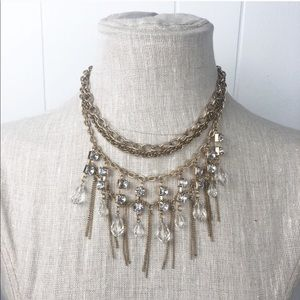 Statement Necklace•Gold and rhinestone NWT